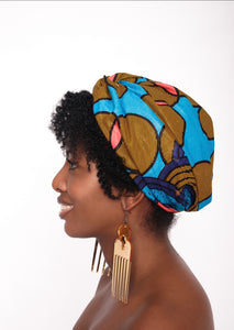 African Knot Print Turban