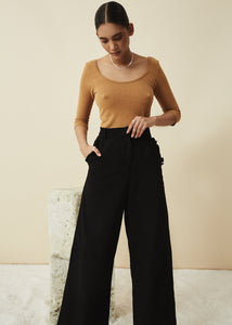 The High & Wide Pants (Black)
