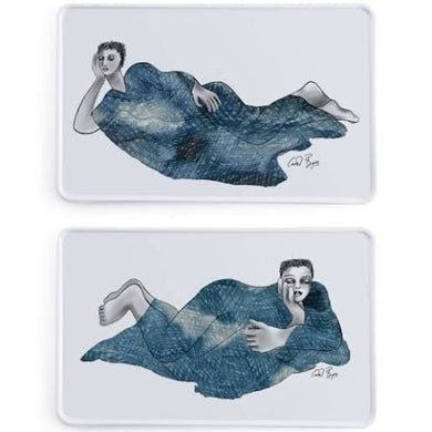 Indigo Girls Rectangular Platters (Set of 2)