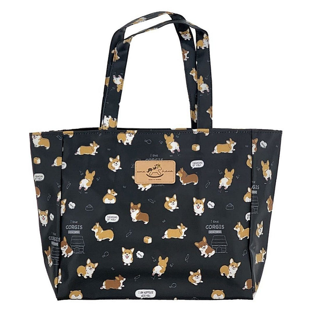 Black Corgi Puppy Medium Tote Tote Tworgis