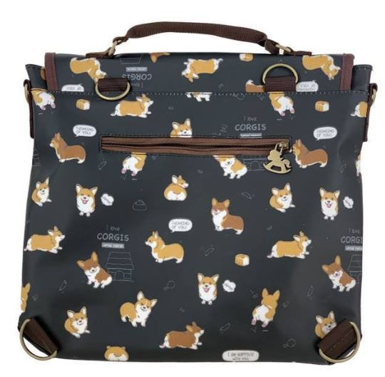 Black Corgi Puppy Triple Usage Bag Triple Usage Bag Tworgis