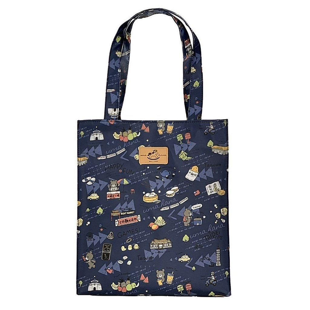 Blue Happy Taiwan Large Tote Tote Tworgis