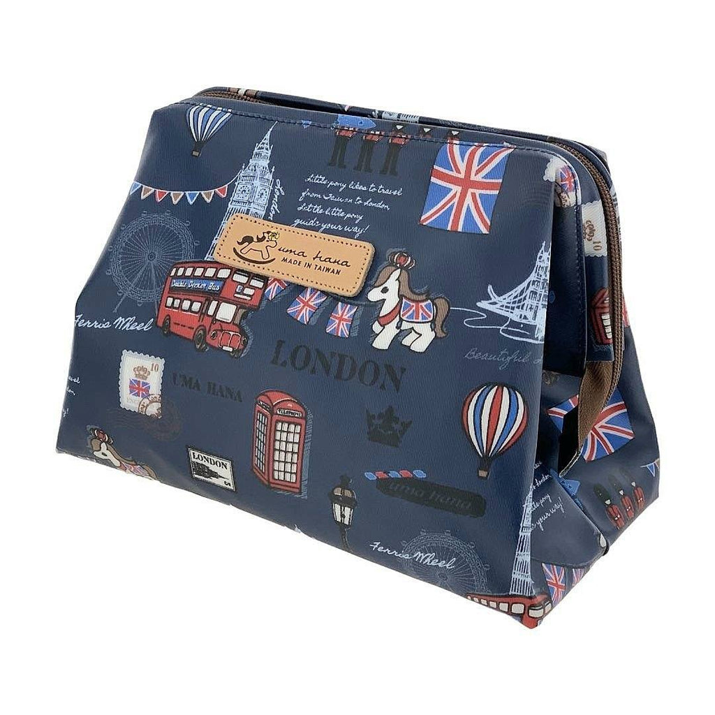 Blue London Large Cosmetic Bag Cosmetic Bag Tworgis