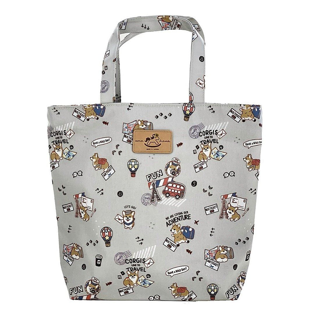 Gray Corgi Adventure Bucket Tote Tote Tworgis