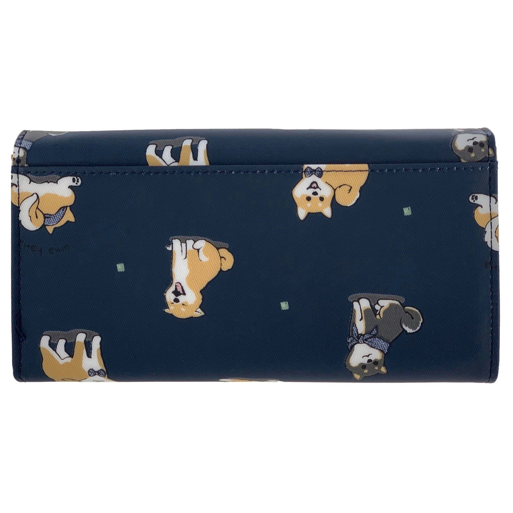 Midnight Blue Shiba Inu Multifunctional Wallet Wallet Tworgis