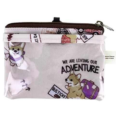 Pink Corgi Adventure Card & Coin Purse Card & Coin Purse Tworgis