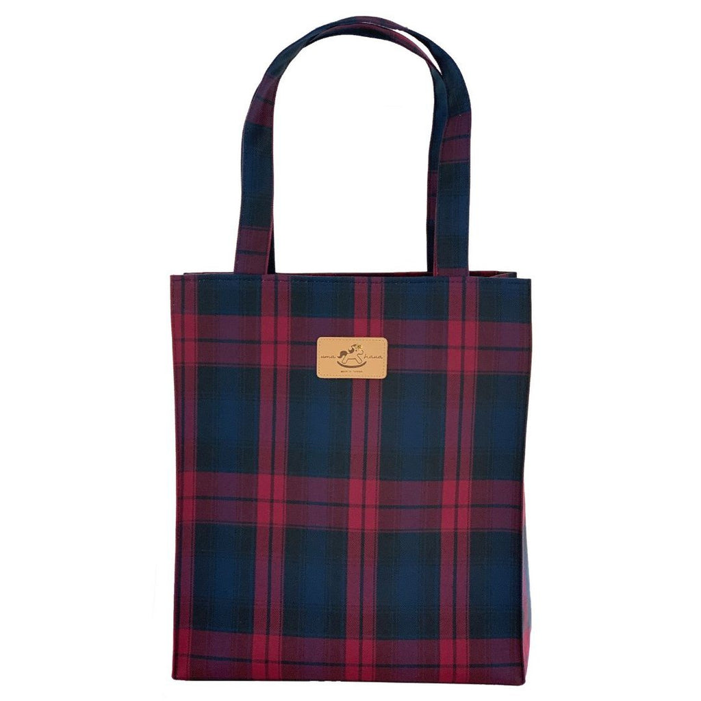 Red & Blue Tartan Plaid Large Tote Tote Tworgis