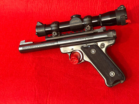 Ruger Mod Mark 2 Target .22 LR with scope Leupold