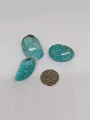 Madagascar Amazonite Tumbled Stone - Large