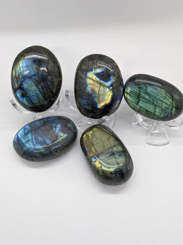 Labradorite Palm Stone - High Flash