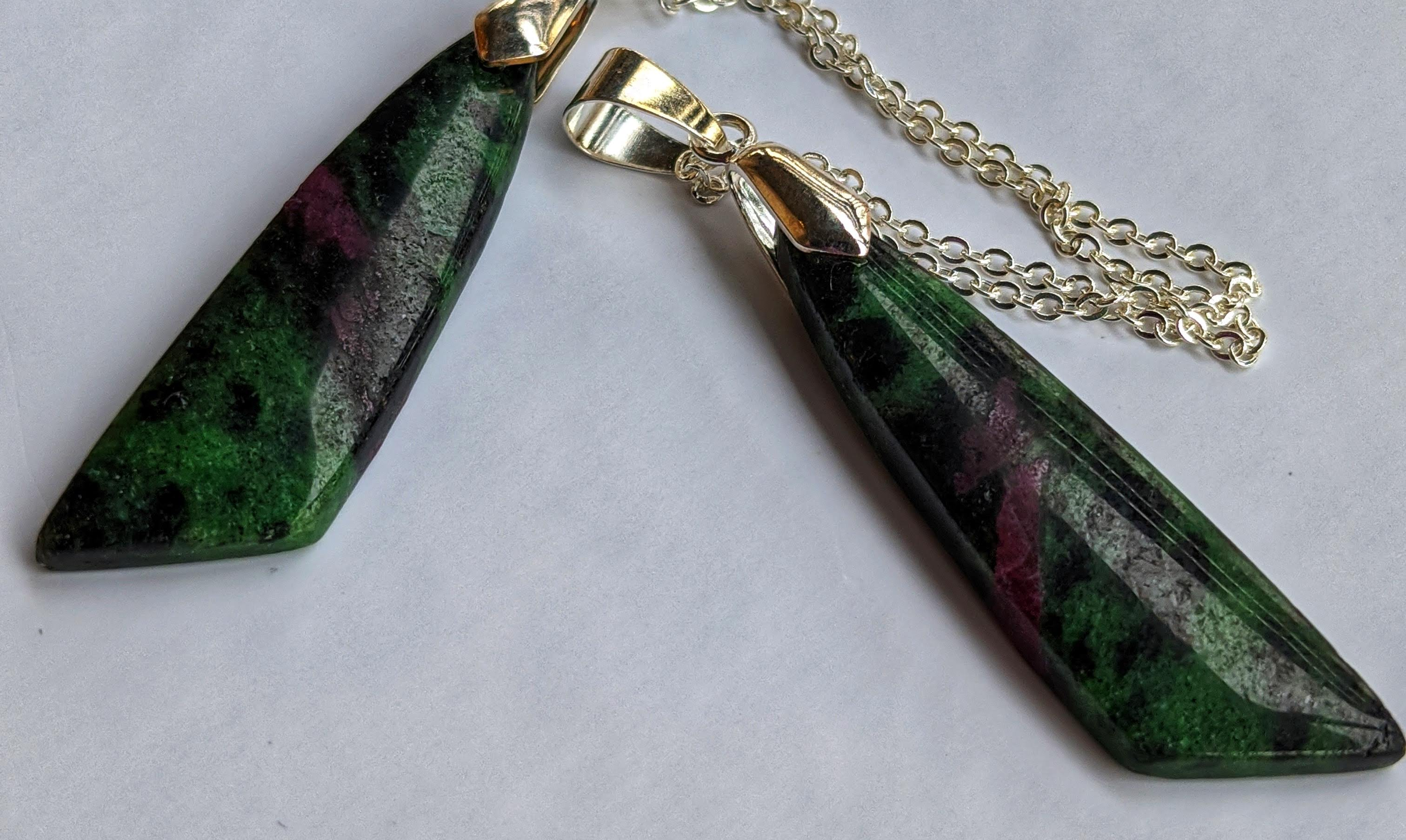 Ruby Zoisite Pendant Necklace