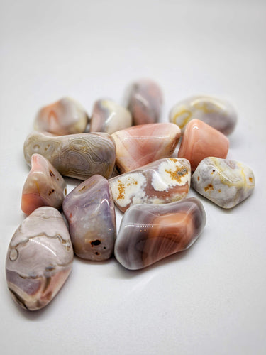Botswana Agate Tumbled Stones - Set of 2