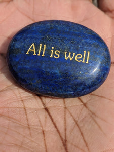 All is Well - Lapis Lazuli Palm Stone