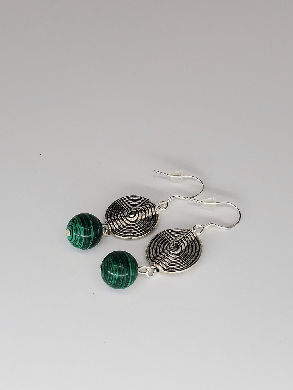 Malachite Swirl Earrings