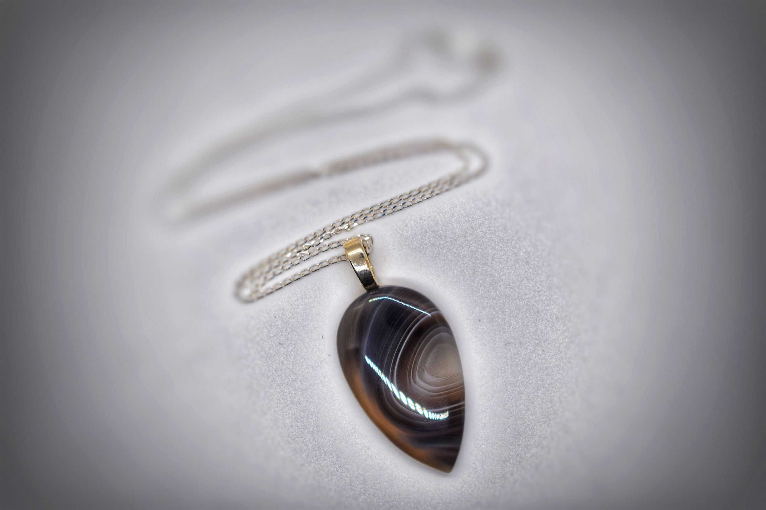 Botswana Agate Pendant Necklace
