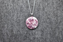 Load image into Gallery viewer, Lepidolite Circle Pendant Necklace