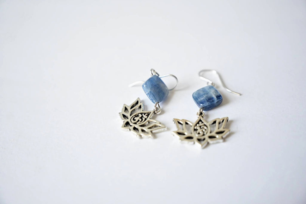 Kyanite Lotus Earrings