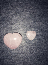 Load image into Gallery viewer, Rose Quartz Puffy Heart and Mini Heart Set