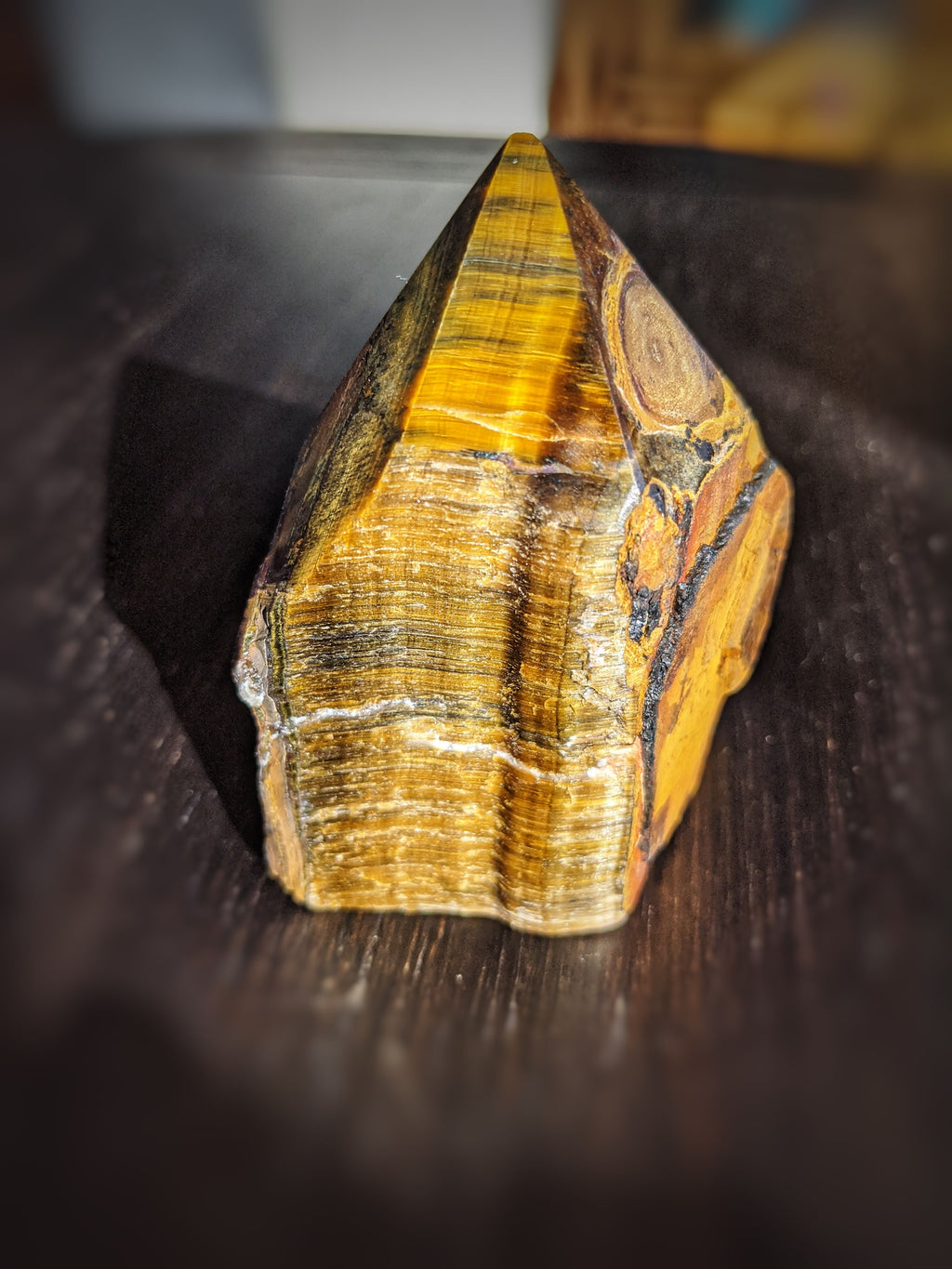 Tiger's Eye Top Polished Point