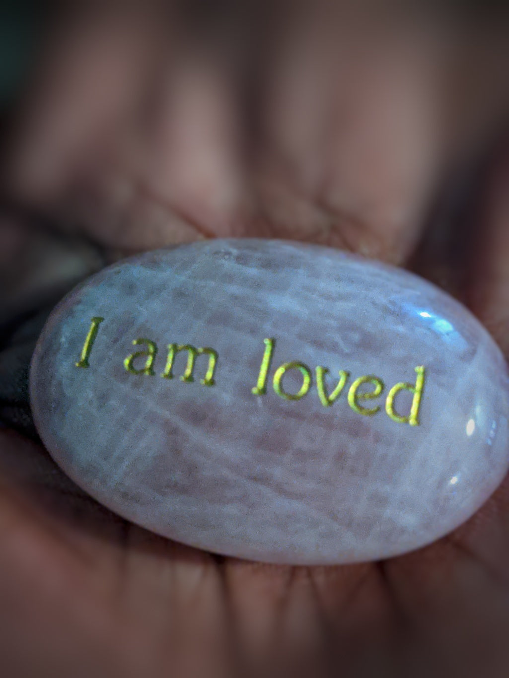 I am Loved - Rose Quartz Palm Stone