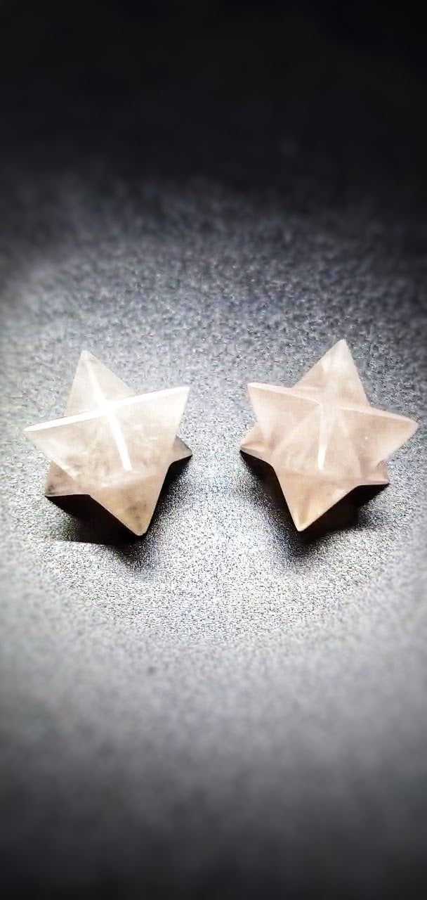 Small Rose Quartz Merkaba