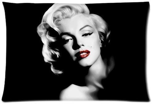 Tang shan Hua yang Pillowcase Custom Marilyn Monroe Pillow Cover Custom Zippered Rectangle Pillow Case 20 X 30 inch (Two Side)