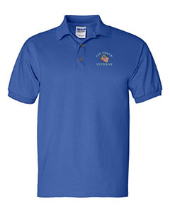 Air Force VETERAN Custom Personalized Embroidery Embroidered Golf Polo Shirt
