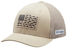 Load image into Gallery viewer, Columbia PFG Mesh Fish Flag Ball Cap