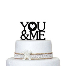 Load image into Gallery viewer, designyours Wedding Cake Toppers Mr and Mrs Personalized Name Customize Date Heart for Wedding