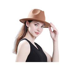 Load image into Gallery viewer, Lisianthus Women Belt Buckle Fedora Hat