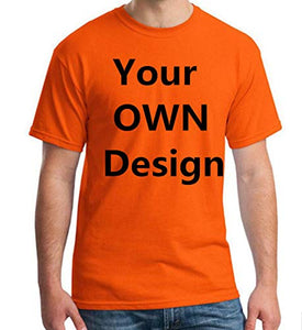 Custom T Shirts, Add Your Own Custom Text Name, Personalized Message or Image, for Men & Women T-Shirt, Cotton T Shirt