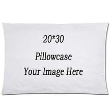 "Load image into Gallery viewer, HH&WW Your Photo Text Here Custom Pillow Cover Personalized Throw Pillow Case 20""X30"" …"