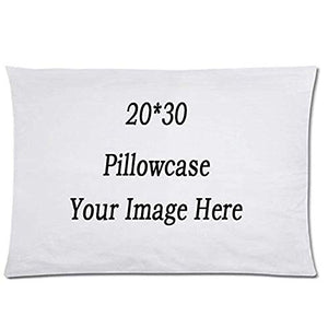 "HH&WW Your Photo Text Here Custom Pillow Cover Personalized Throw Pillow Case 20""X30"" …"
