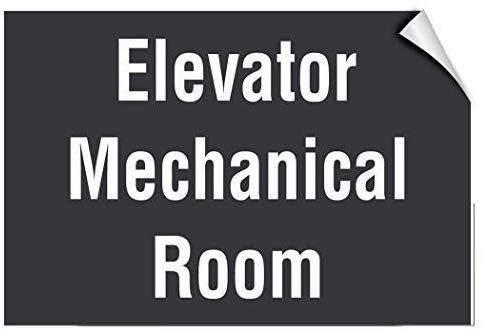 Elevator Mechanical Room Business Elevator Warning Stickers Lable Decal Safety Signs and Stickers Vinyl for House Van Property Car Window 7 Inches X 10 Inches
