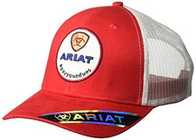 Load image into Gallery viewer, ARIAT Men's Circle Center Patch Mesh Cap red One Size