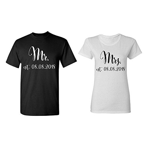 Mr - Mrs Personalized Couple Matching Shirts Married Custom Valentines Day