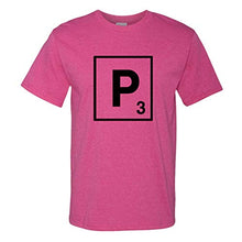 Load image into Gallery viewer, Custom Graphic T Shirts for Men P Scrabble Initial Monogram Letter P Cotton