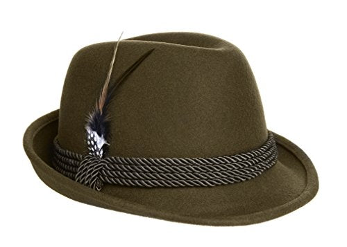 Alpine Fedora Dark Green - Oktoberfest Holiday Hat - Adult XL  St Patrick's Day