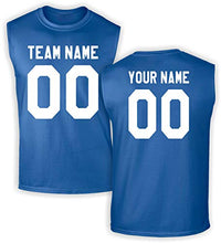Load image into Gallery viewer, Custom Jersey-Style Front and Back Sleeveless T-Shirt - Add Your Team, Name, and Number