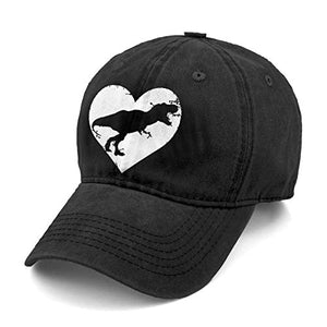 Unisex T Rex Skeleton Dinosaur Denim Hat Adjustable Washed Dyed Cotton Dad Baseball Caps