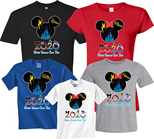 Our Family Vacation 2020 Custom Family Name Matching Shirts Black