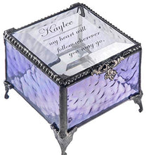 Load image into Gallery viewer, Personalized Jewelry Box Decorative Vanity Display Engraved Glass Keepsake Gift for Friend Daughter Sister Girl Women Vintage Decor J Devlin Box 825 EB246 (Clear Honeycomb)