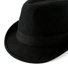 Load image into Gallery viewer, Unisex Classic 20s Manhattan Cotton Twill Herringbone Trilby Fedora Hat with Band Casual Jazz Wool Cap