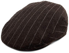 Load image into Gallery viewer, Classic Men's Flat Hat Wool Newsboy Herringbone Tweed Driving Cap