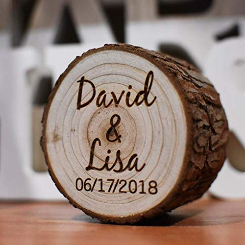 Rustic Engraved Wooden Wedding Ring Box,Wedding Ring Box Personalized Name and Date for Ceremony,Rustic Wedding Ring Holder,Engagement Ring Box