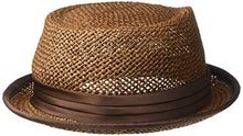 Load image into Gallery viewer, Brixton Men's Stout Short Brim Straw Pork Pie Fedora Hat