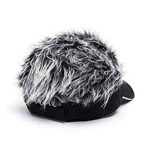 OBERORA Flair Hair Visor Sun Cap Wig Peaked Adjustable Baseball Hat with Spiked Hairs