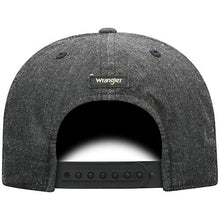 Load image into Gallery viewer, Wrangler Men's Stitched Snapback Cap Charcoal One Size