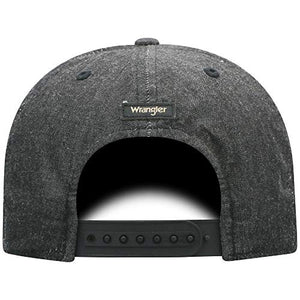 Wrangler Men's Stitched Snapback Cap Charcoal One Size