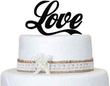 Load image into Gallery viewer, Love Wedding Cake Topper Keepsake Wedding Cake Decorations